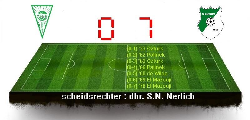 Foutenfestival op het middenveld luidt te grote nederlaag in.VVZ'49 slikt 5 doelpunten in 8 minuten