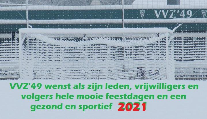 VVZ'49 wenst iedereen mooie feestdagen en een gezond 2021