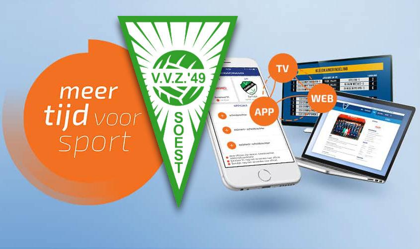 De website van VVZ '49 is vanaf vandaag ondergebracht bij Sportlink