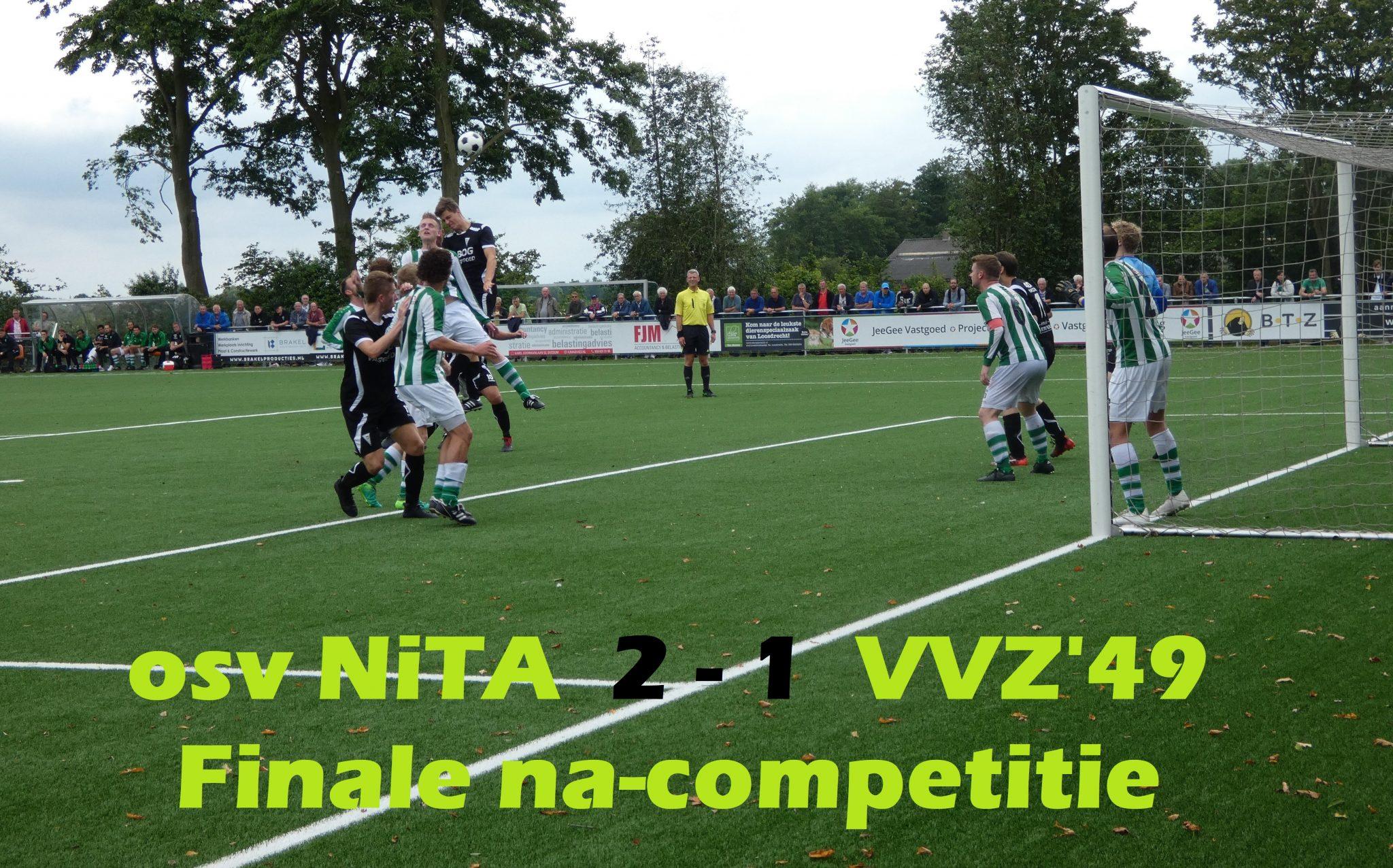 Deceptie voor VVZ'49 tijdens finalewedstrijd om promotie 2e klasse